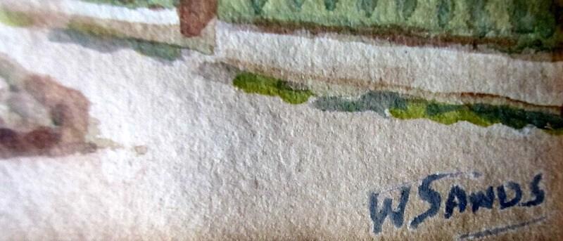 W. Sands' signature.