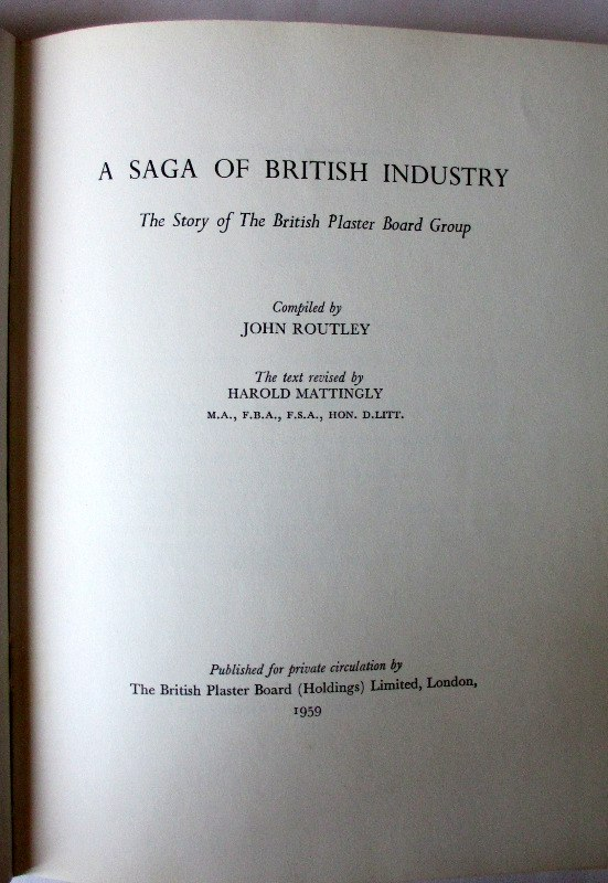 The British Plaster Board Group, 1959. Title page.