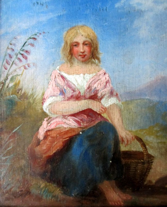 Portrait of a Peasant Girl, c1850.