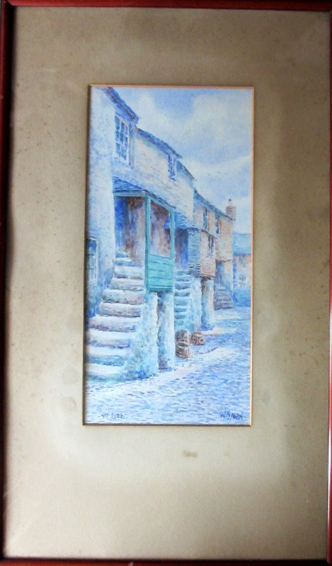St. Ives, watercolour on paper, signed W. Sands, c1930.