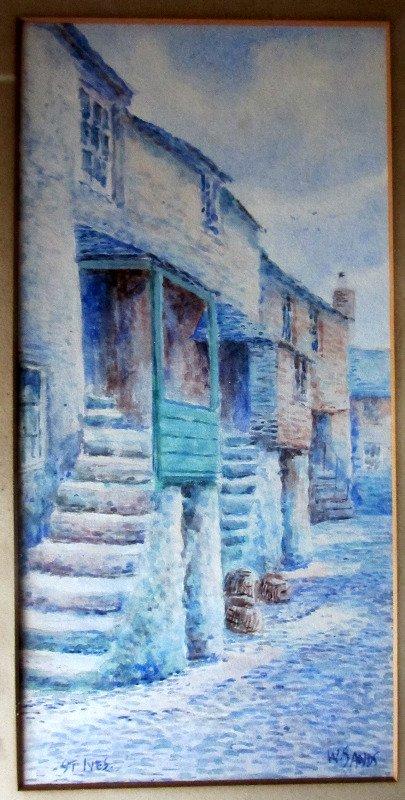 Cobbled Street Scene St. Ives, detail.