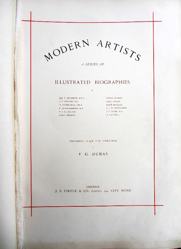 Modern Artists. Title page.