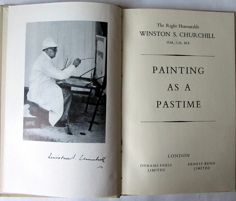 Painting as a Pastime by Winston S. Churchill, 1948. 1st Edition.