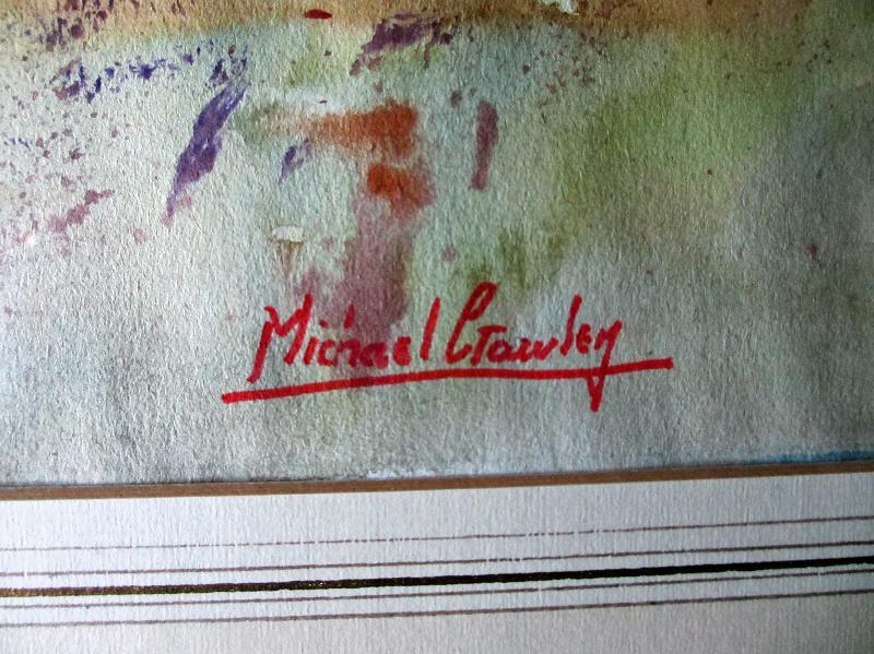 Michael Crawley's signature.