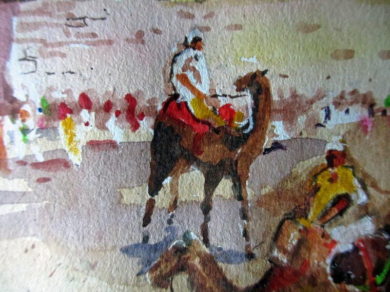 Camel detail.