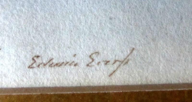 Detail, signature.