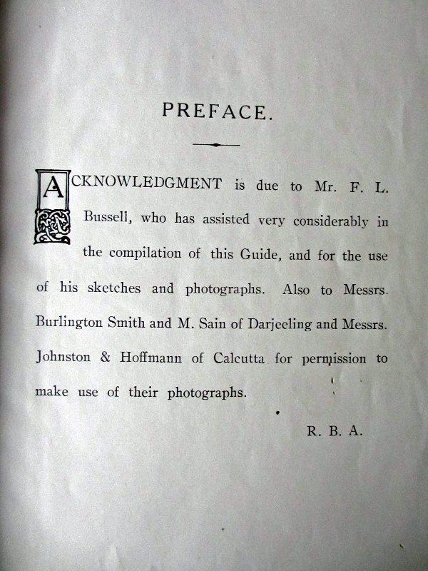Darjeeling. Preface.