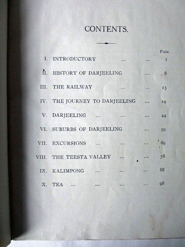 Darjeeling. Contents.