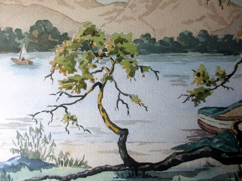 Lakeside View. Detail.