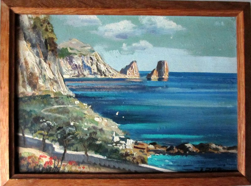 Coastal Scene of Capri.