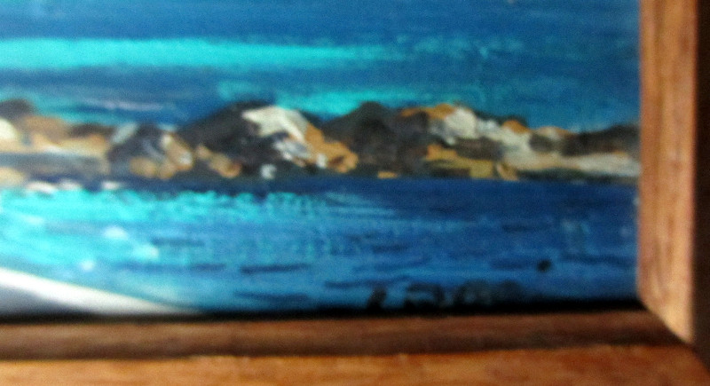 Coastal Scene of Capri. Title, lower rh corner.