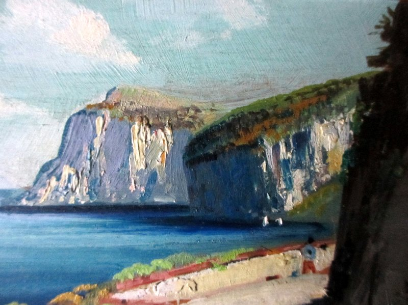 Coastal Scene of Capri (2), detail.