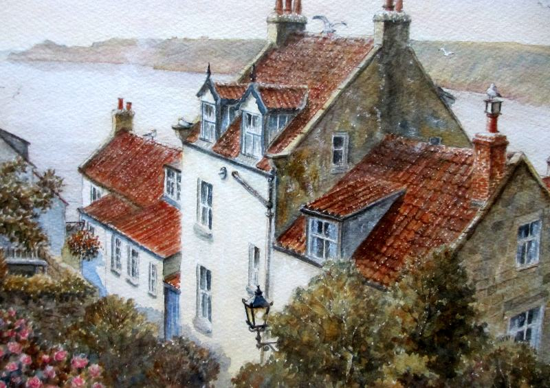Runswick Bay, detail.