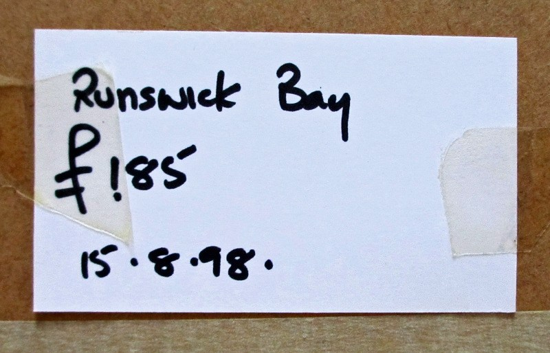 Gallery price label.