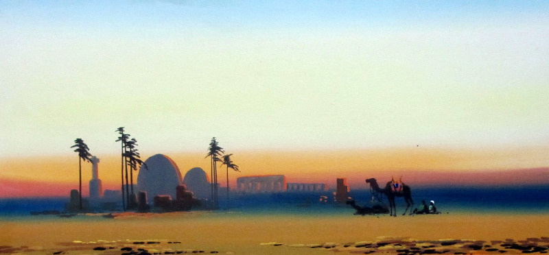Arabian Scene at Dusk.