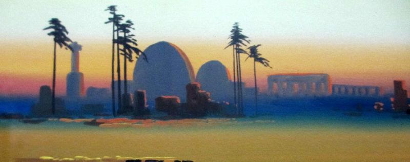 Arabian Scene at Dusk. Detail.