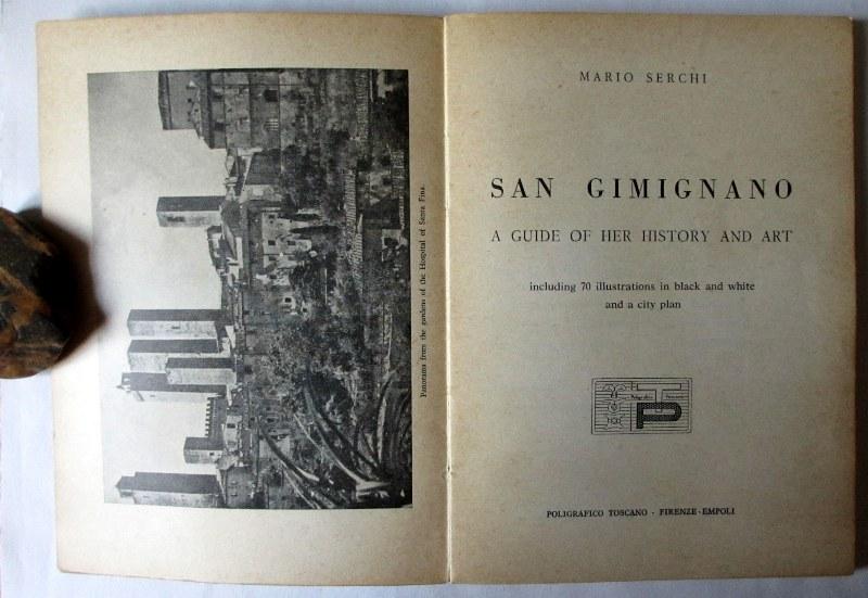 San Gimignano, title page and facing e/p.