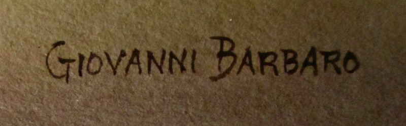Barbaro's signature in lighter script.