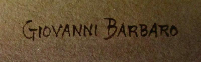 Barbaro's signature in lighter script.