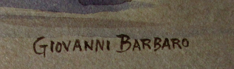Barbaro's signature.