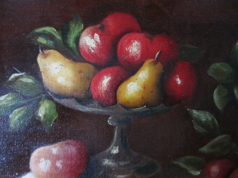 Still-Life of Fruit, oil on canvas, signed E. Ladell. c1880.