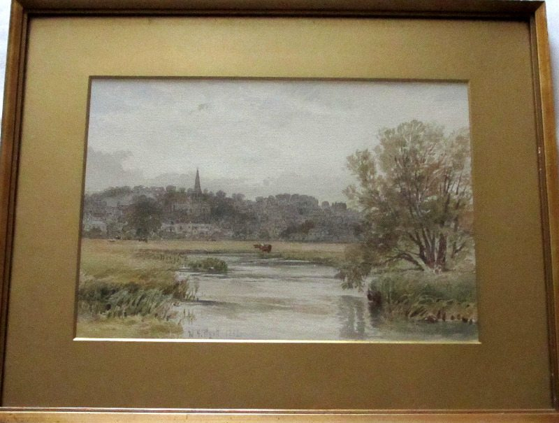 Bakewell signed W.H. Pigott 1882. Framed and glazed.