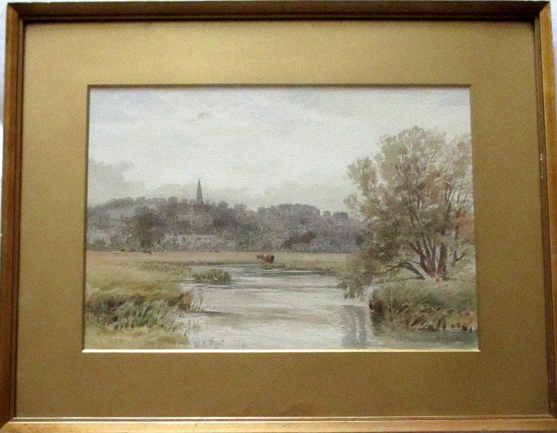 Bakewell, signed W.H. Pigott 1882. Framed and glazed.