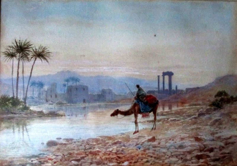 North African Oasis, JW Hepple, 1915. Detail.
