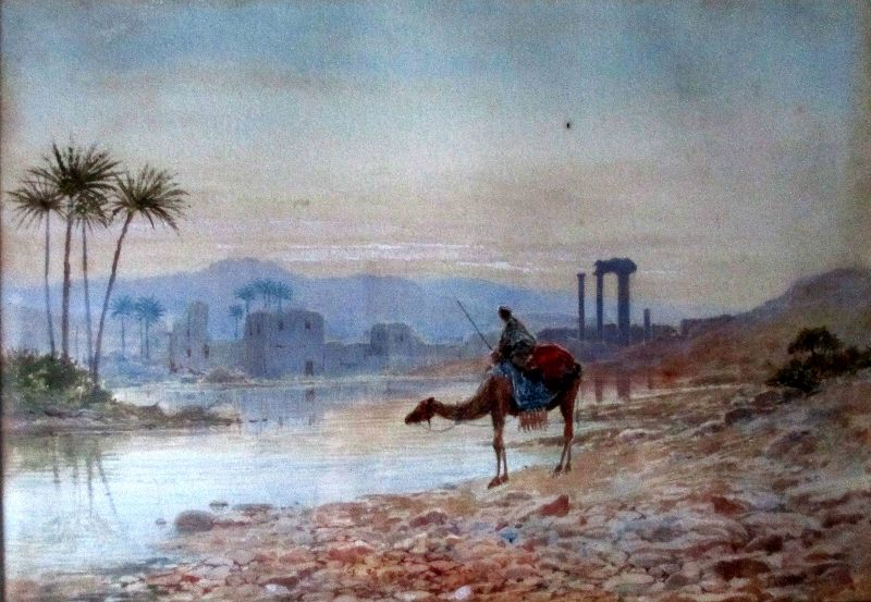 North African Oasis. Detail.