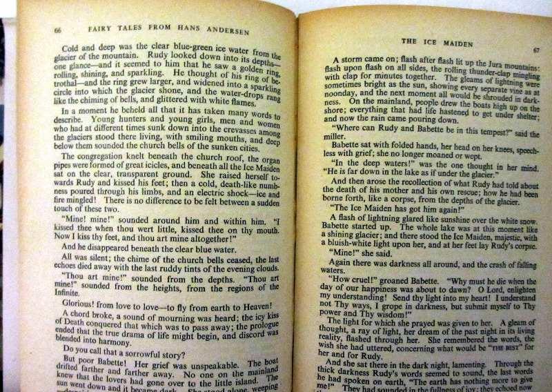 Hans Andersen, sample pages.