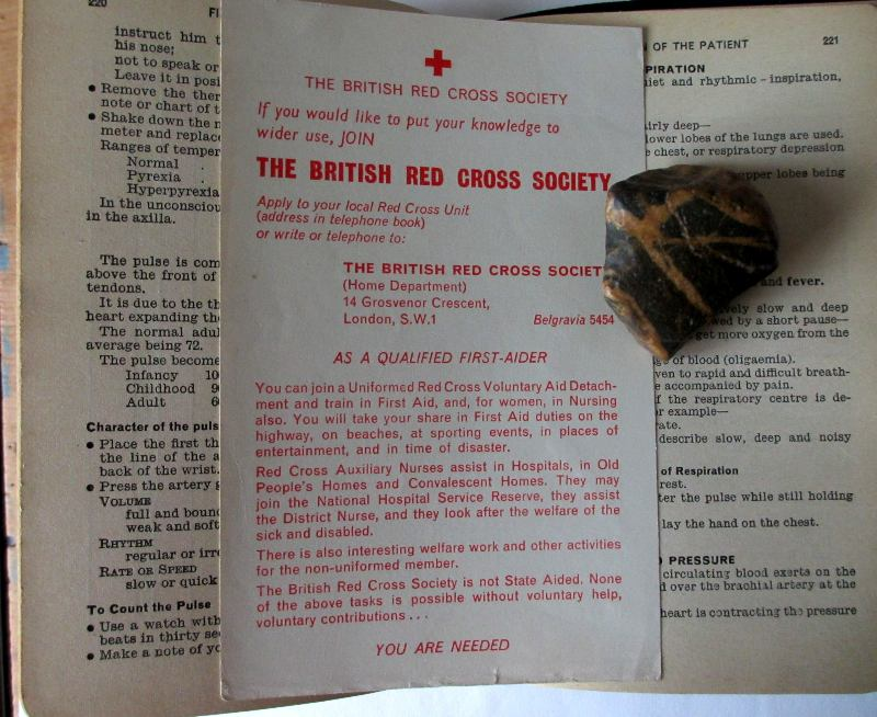 First Aid sample pages. Red Cross period leaflet.