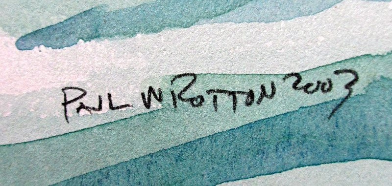 Paul W Rotton's signature.