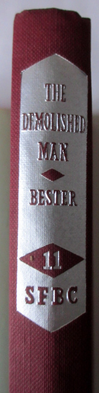 The spine with lettering.