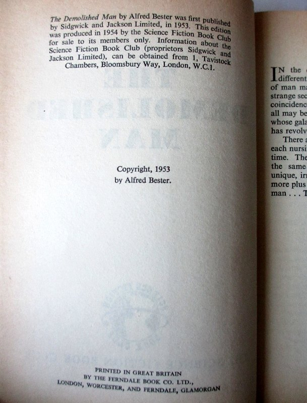 Copyright page.