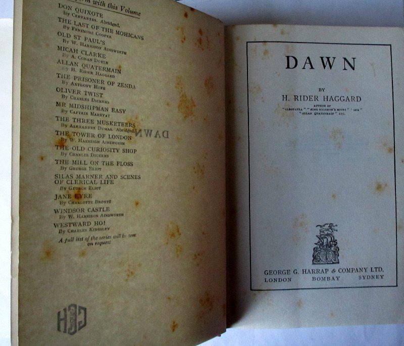 Dawn Title page.