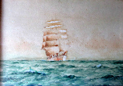 In South American Waters, watercolour and gouache, signed WM Birchall 1910.