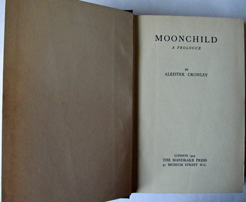 Moonchild, Title page.