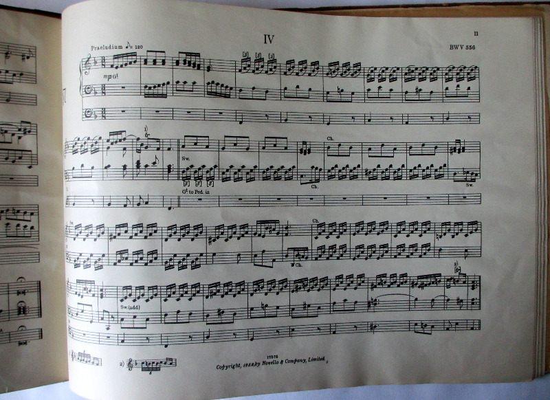 JS Bach sample page.