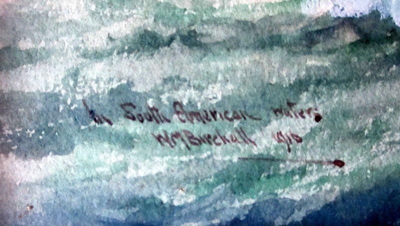William Minshall Birchall. Signature.