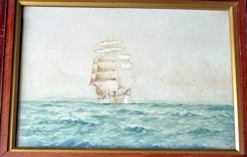 In S. American Waters, signed WM Birchall 1910.