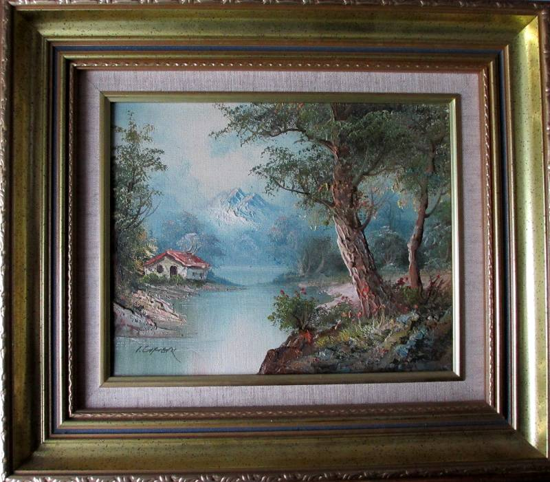 Tyrolean landscape, oil on canvas, signed I. Cafieri, c1985.Tyrolean