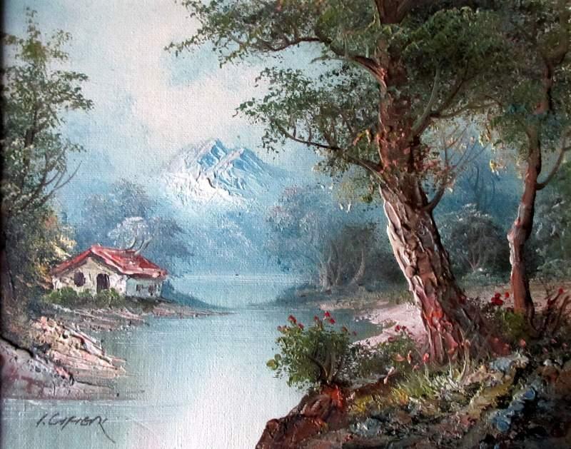 Landscape Oil Paintings Signed I Cafieri