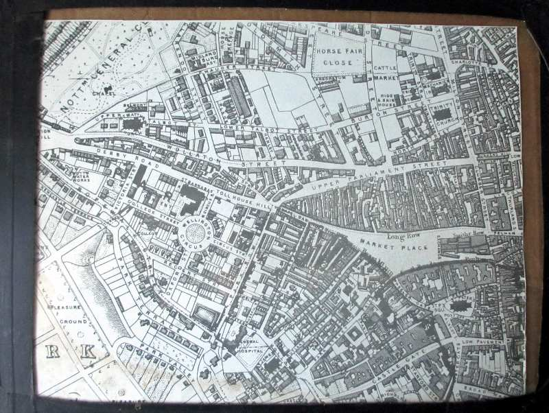 Jackson 1861. Nottingham City Map.