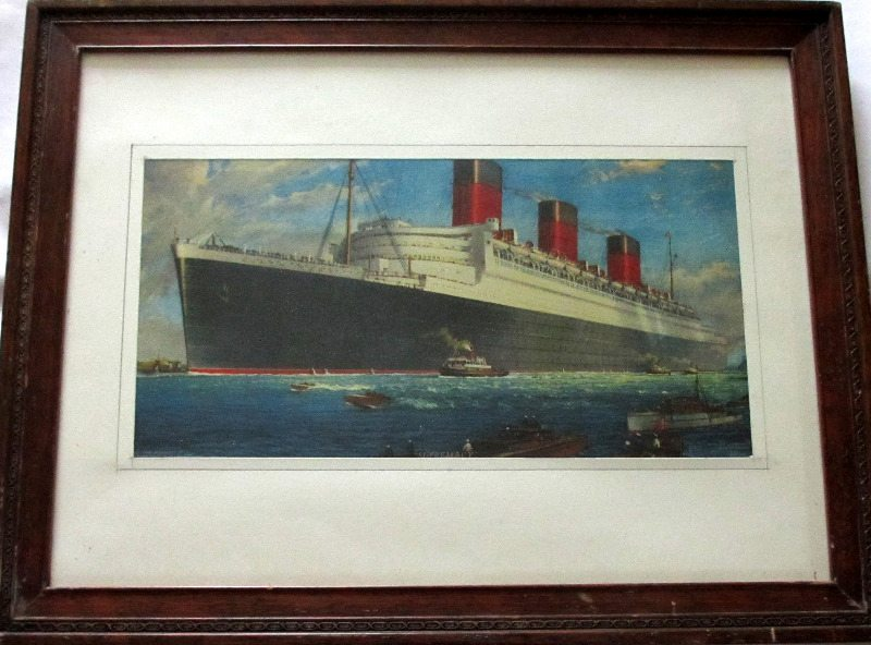 RMS Queen Mary, print. Overview.