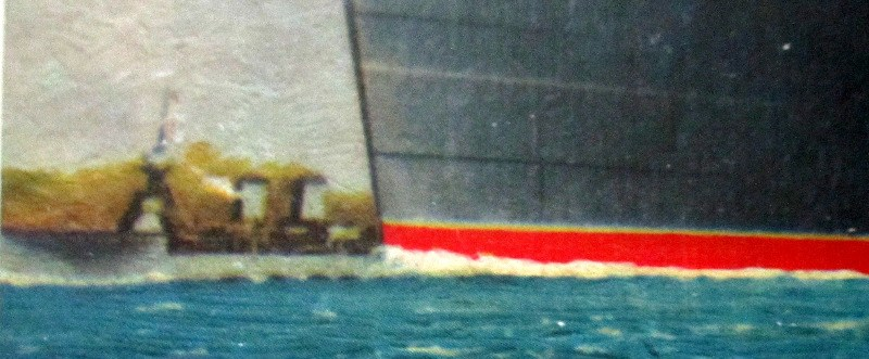 Queen Mary, detail, bow.