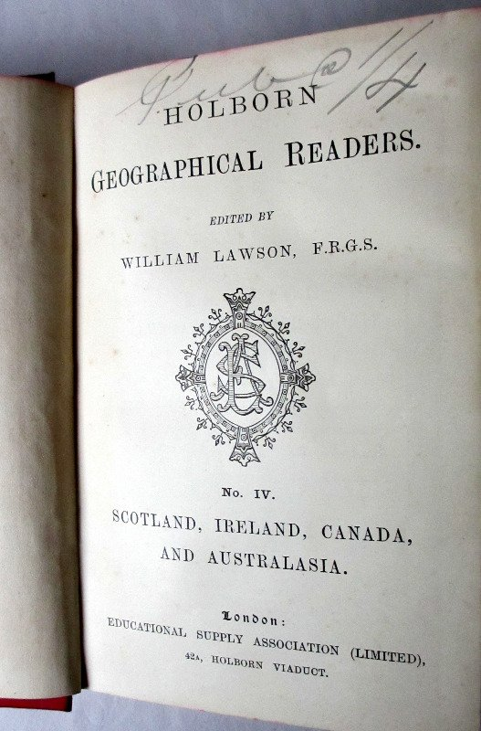 Geographical Reader, 1892. Title page.