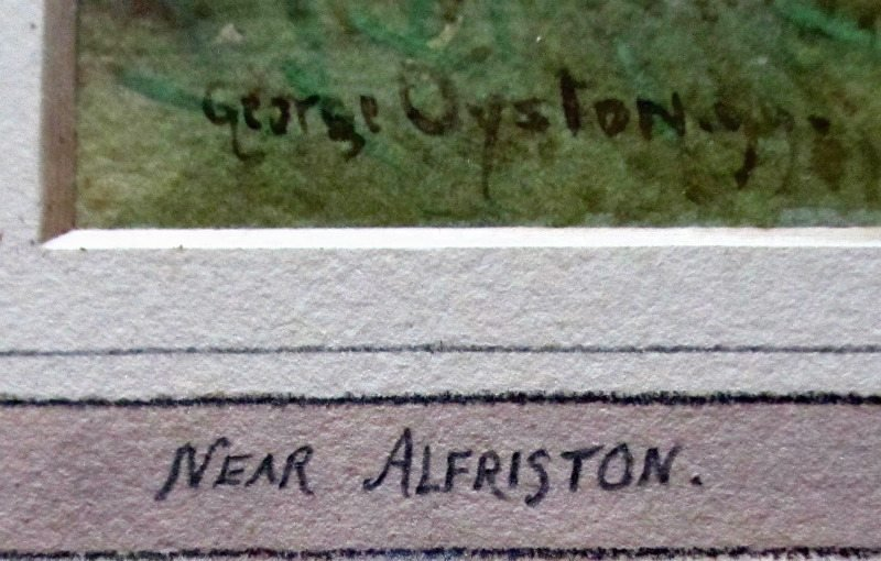 George Oyston's signature and date.