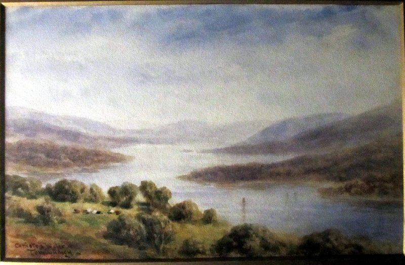 Consiton Water, watercolour on paper, signed Tom Dudley. c1890.