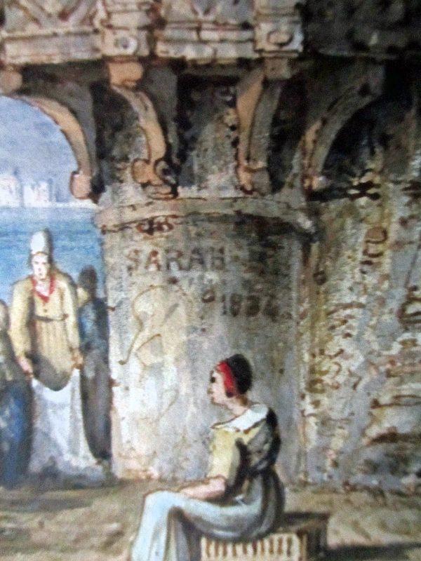 Sarah 1834, detail.