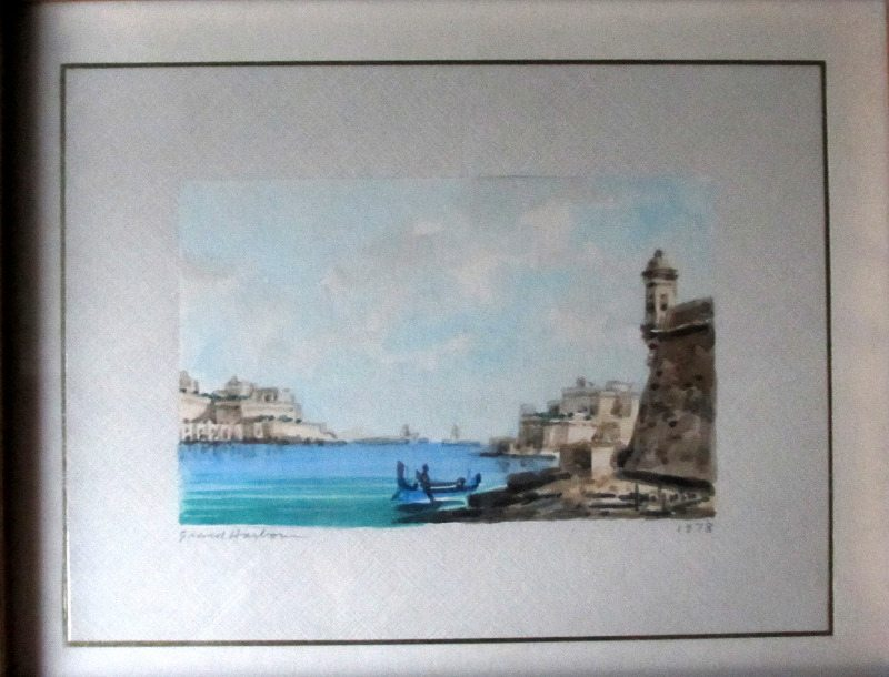 The Grand Harbour, signed Jos. Galea 1978.